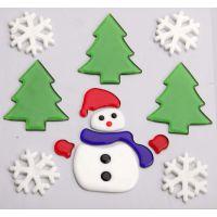 厂家供应【圣诞节】TPR窗贴,果冻贴,TPR软胶贴款式 环保无毒