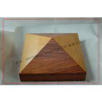金字塔椎形木盒 拼木木盒 金字塔精品木盒制作 高档木盒生产定做