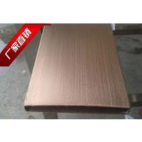 广州仿古铜不锈钢方管,304不锈钢管红古铜色,上海拉丝方管(水镀)
