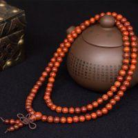赞比亚血檀顺纹手串6mm*108颗 精品檀木男士女士红木手串手链
