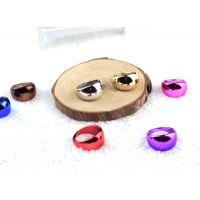义乌外贸戒指 糖果塑料戒指 电镀亚克力戒指 彩色亮光戒指批发