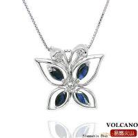 供应天然蓝宝石吊坠 925纯银饰品手工镶嵌天然宝石 SP0040S