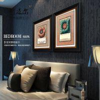 欧式奢华古典图案装饰画 样板房高档有框画 美式墙壁挂画油画批发
