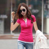 韩国官网同款2015夏季新款日韩女装休闲时尚短袖上衣打底衫T恤女