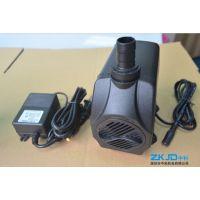 深圳蓝鱼水族12V24V15W静音小型家用太阳能喷泉鱼缸泵厂家/价格