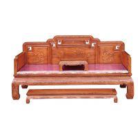 东阳誉福红木厂家直销非花古典中式罗汉床、东阳木雕、缅花红木家具、全实木家具等