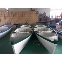 4米精品欧式木船 刚多拉木船 湖面两头尖手划船 户外景观装饰船