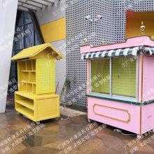游乐园零售花车,主题乐园售卖花车,移动售货亭,实木贩卖亭
