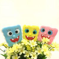 整盒批发海绵宝宝棉花糖糖果总动员创意系列棒棒糖果六一儿童礼物