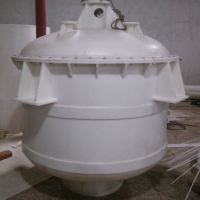 江苏立创厂家定做PP加热搅拌釜反应釜聚丙烯搅拌罐反应罐
