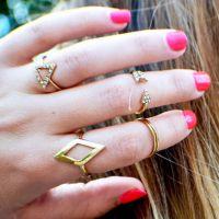 R027 ebay速卖通欧美风时尚百搭镶钻箭头菱形三角形关节套装戒指
