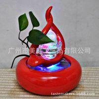 创意陶瓷喷泉流水水景加湿器风水鱼缸摆件家居装饰品客厅摆设