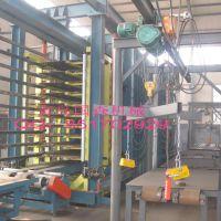 青岛国森生产高强度木塑空心砖机托板生产线机械压机组