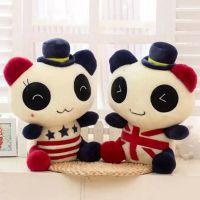 创意情侣熊猫公仔 婚庆布娃娃毛绒玩具 结婚生日礼物批发