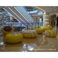 彩色圆凳子 玻璃钢鼓形造型凳 商场美陈休闲凳定做 圆形凳子厂家直销