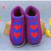 厂家直销女士居家棉鞋包跟双层护脚保暖棉鞋