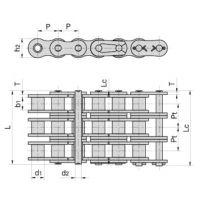 东华盾牌12A加重系列滚子链 传动链/输送链/工业链条12A(加厚)链条现货销售