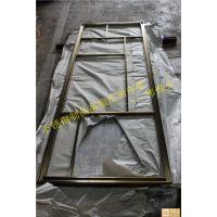 简约钛金拉丝不锈钢屏风隔断 伟煌业家居金属装饰花格镂空来图定制