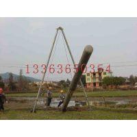 诺达丘陵用管式抱杆10米电线杆用铝合金扒杆水泥杆人字拔杆