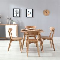 咖啡厅西餐厅餐桌椅 实木水曲柳北欧风格桌椅组合 海德利四人位休闲桌椅