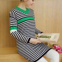 (实拍)秋冬新款宽松孕妇针织衫长袖毛衣打底衫孕妇装连衣裙