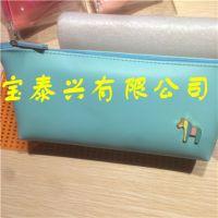 韩版可爱创意小马彩色皮质笔袋 高档糖果色简约文具袋 笔袋批发