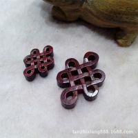 【檀之香】印度小叶紫檀雕件 手工雕刻中国结小配件DIY水晶手链
