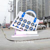 玻璃钢地标建筑雕塑 玻璃钢背包造型雕塑