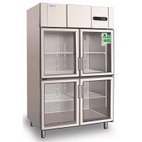 冰立方四门冷藏保鲜展示柜S1.0G4 商用四玻璃门保鲜陈列柜