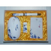 青花瓷手机移动电源 礼品青花瓷套装充电宝批发定做