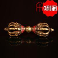 厂家热销尼泊尔进口藏传佛教用品批发 绿松石九股金刚降魔杵法器