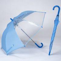 YL【雅乐制伞】 安全手开式儿童直杆伞 透明可视窗POE 190T碰击布面料