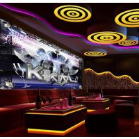 KTV主题墙纸定制 酒吧墙面闪光3d壁纸 客厅装修大型pvc壁画