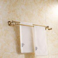 厂家直销 卫浴挂件 全铜双杆仿古毛巾杆 毛巾架 高档欧式  热卖中
