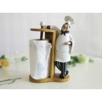 欧式厨师纸巾架餐巾架摆件树脂时尚创意家居餐厅餐桌装饰品咖啡厅