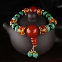 厂家直销藏式仿红珊瑚手链藏式仿绿松石手链水晶手串饰品批发