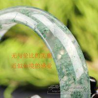 水草玛瑙手镯天然水晶玉镯玻璃种玛瑙镯子女多款选苔藓玛瑙玉镯