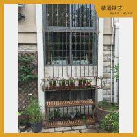 宁波厂家直销 高档铁艺防盗窗护窗 欧式花型复古风格铁窗