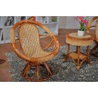 藤格格家具厂家提供藤木弯藤转椅 休闲椅 藤椅茶几组合 藤椅子茶几三件套