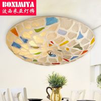 波西米亚灯饰吸顶灯地中海温馨浪漫餐厅灯卧室led田园灯具400mm。