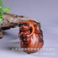厂家批发 老挝红酸枝木 猴子钱袋 手把件 挂件摆件 一件代发