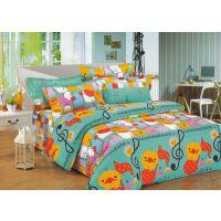 2.35宽纯棉斜纹卡通印花床上用品布料 快乐小鸭