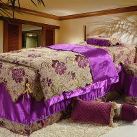 紫郡家纺2014新款多功能美容床罩四件套全棉美容按摩床罩 可定做