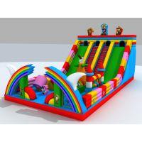游乐场设备之充气大滑梯 大型气垫弹跳床 儿童淘气堡厂家专业定做