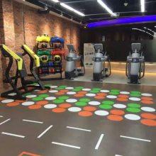 博尔福健身房订制个性化私教耐磨PVC塑胶地板
