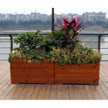 水泥仿木花箱 成都仿木花箱 混凝土仿木花箱