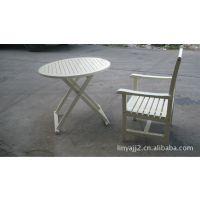 户外用品、休闲家具、庭院家具、白色户外实林园木椅厂家直销
