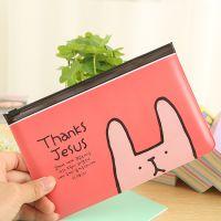 C02-1-09 多用途小兔透明收纳小袋 文具袋拉边袋pvc笔袋批发