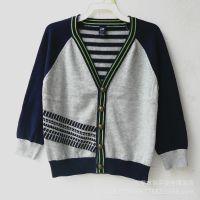 外贸童装新款GA*外贸男童儿童 纯棉针织开衫 秋冬款外套批发