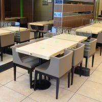 新品热卖 肯德基休闲餐桌椅 酒店家具 四人板式餐桌椅批发 运达来家具